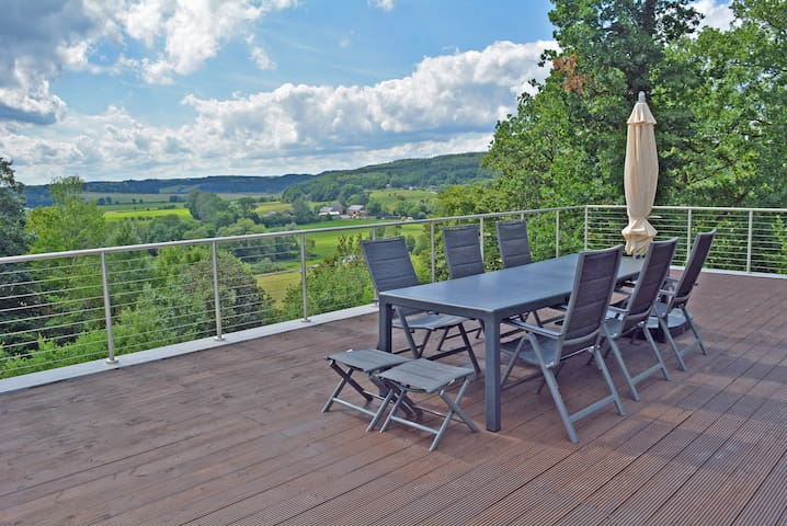 Durbuy: great villa with extremely beautiful view