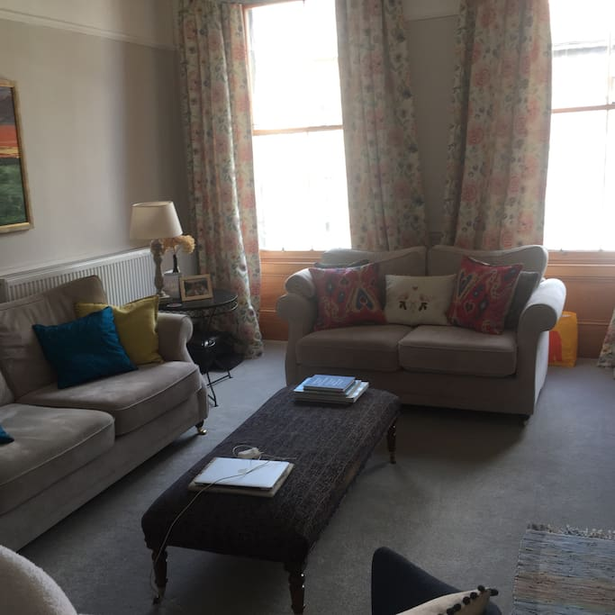 Sitting room in afternoon sun