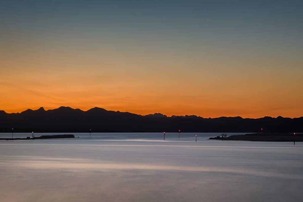 A beautiful Nelson sunset as viewed from the home