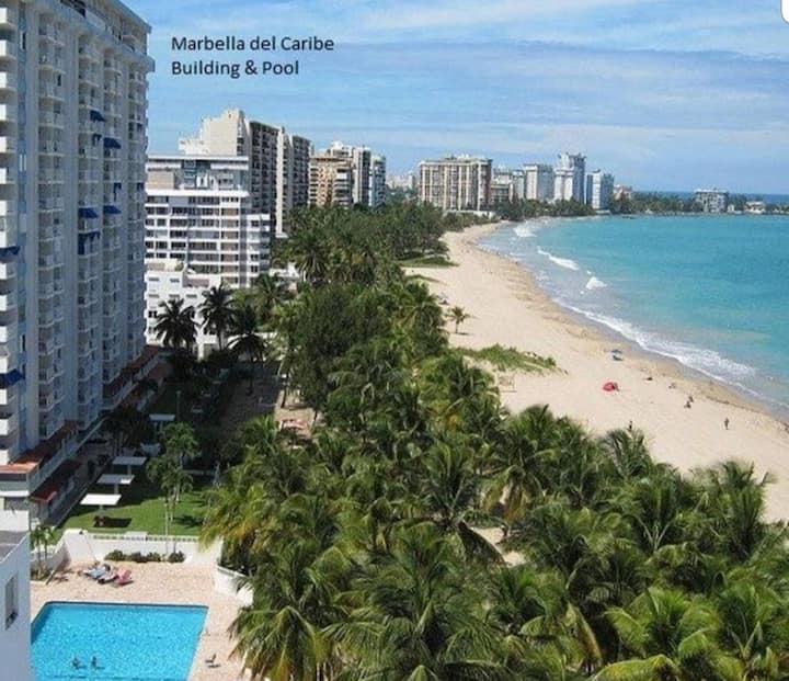 Beach Front apt at Marbella del Caribe 2