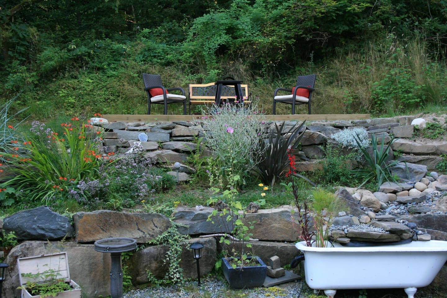 Fire Pit in the garden area.