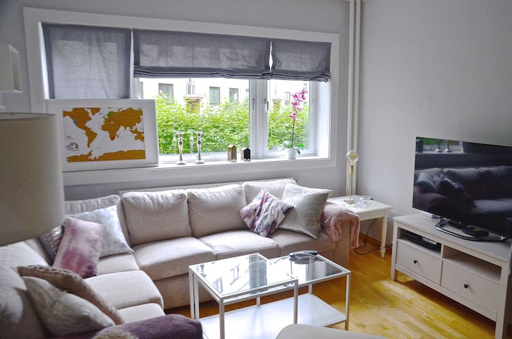 Spacious and bright flat, 10 min from Central Oslo