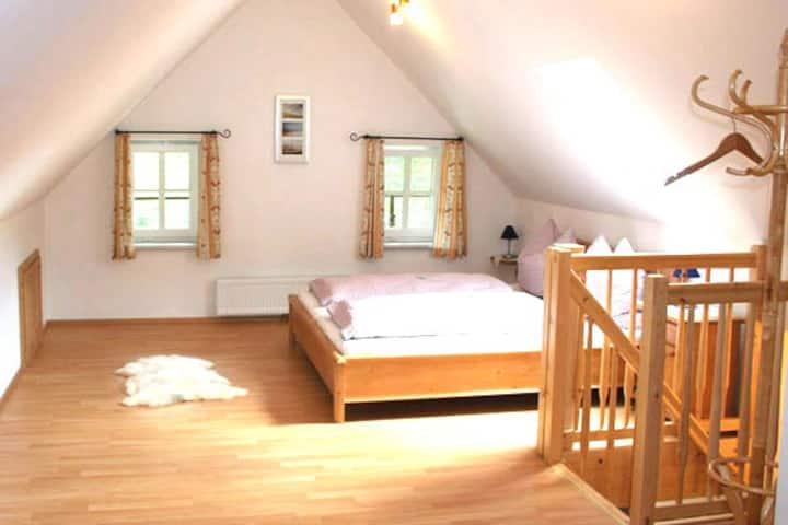 Ferienhaus Ehrenreith (Göstling an der Ybbs), Ferienwohnung Steinkogl 80qm mit Balkon. Sauna im Haus.