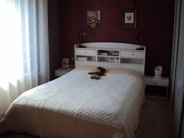 Chambre double sur jardin - Dombasle-sur-Meurthe - House