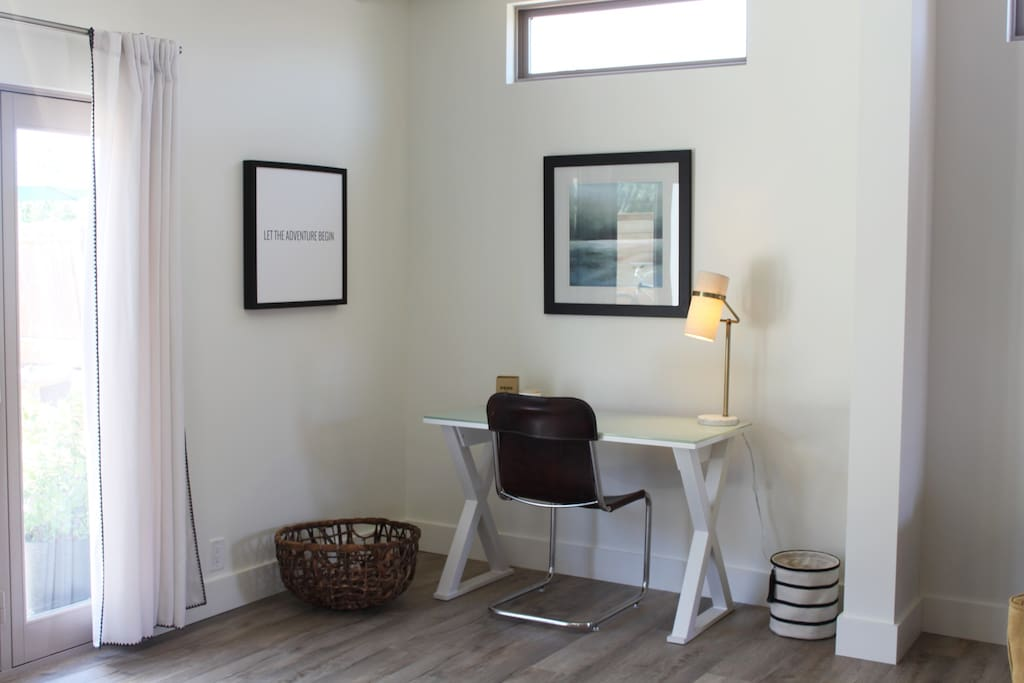 Office area for working remotely