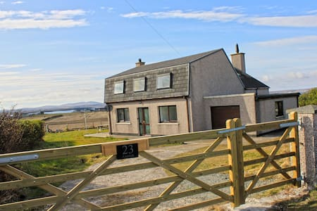 23 Aignish a quiet village with panoramic views.