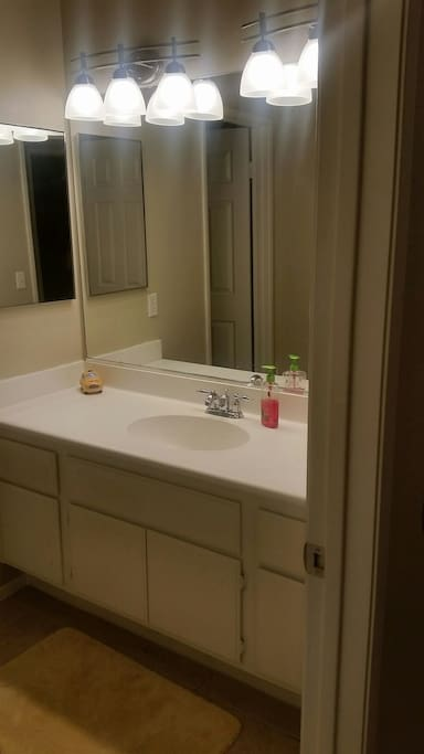 Shared Bathroom with Shower.
