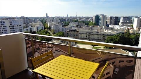 Vue exceptionnelle sur Paris
