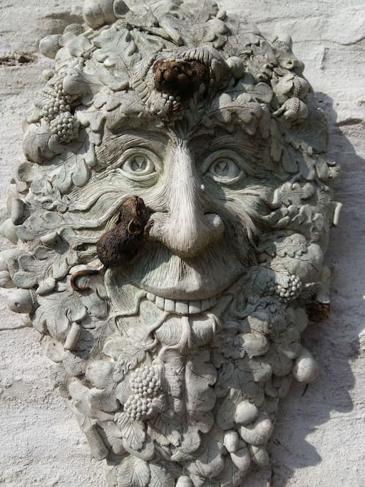 Steeped in history, myth and culture 'The Green Man' watches over the harvest.