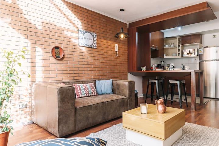 Cálido y acogedor Apartamento Loft Santiago