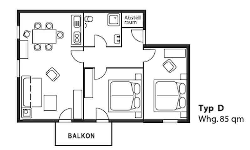 Top! 3 Zimmer Ferienwohnung mit Balkon 85qm