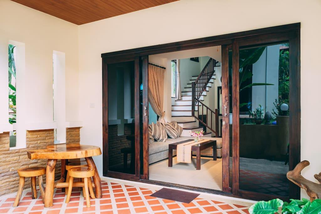 Terrace and main door