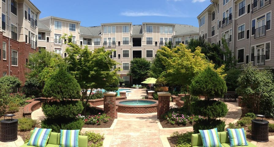 Apartment complex with pool and gym