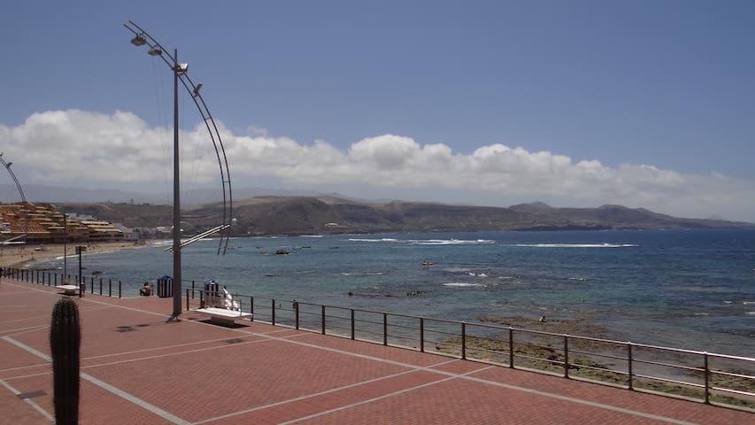 Apartamento en primera línea Playa de Las Canteras