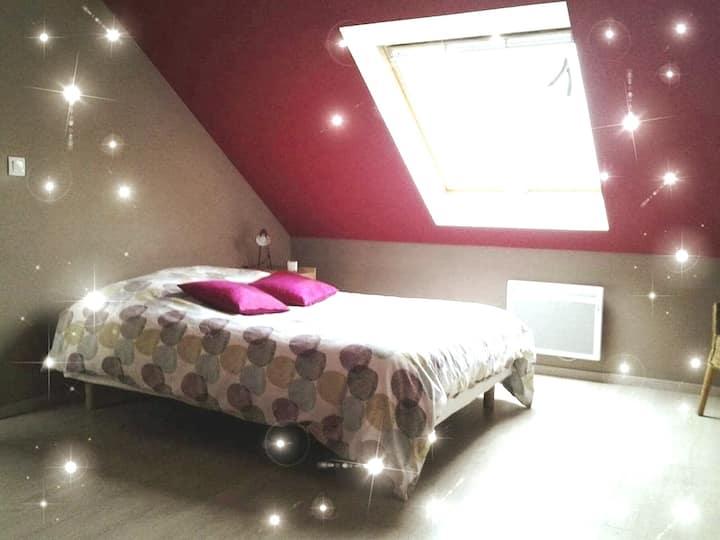 Chambre confortable au calme  en Normandie