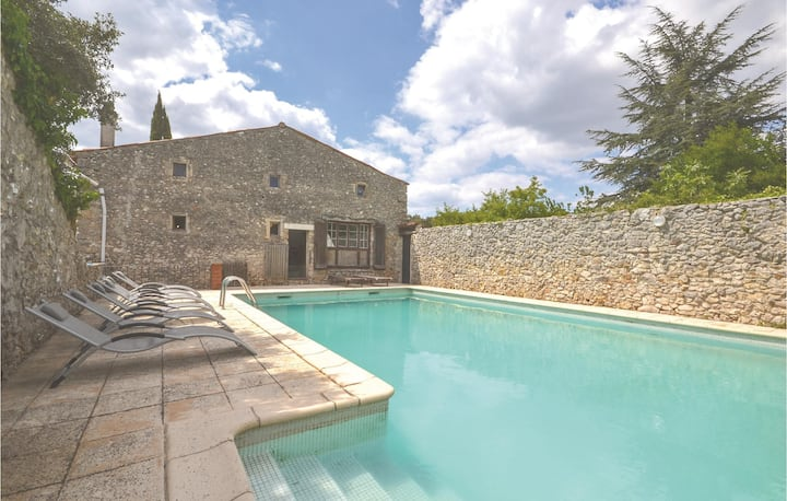 Nice home in Labastide-de-Virac with WiFi and 4 Bedrooms