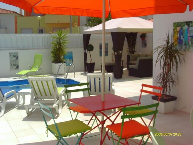Poolside apartment in private villa in Alcobaca - Alcobaça - Apartamento