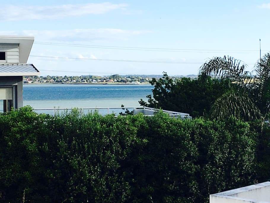 Sea views from our deck!