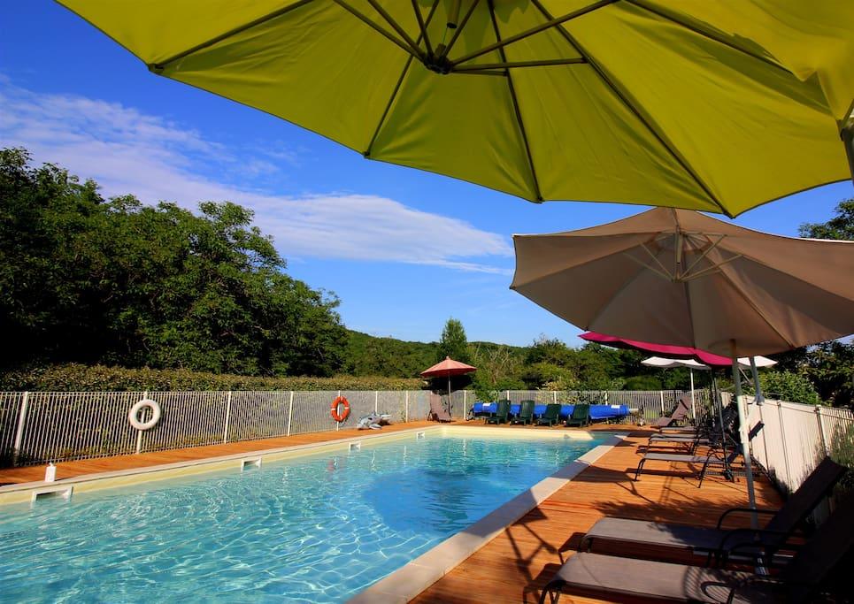16 m x 6 m heated pool