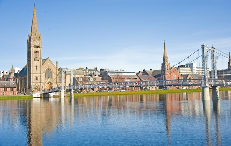 The River Ness flows through the centre of Inverness