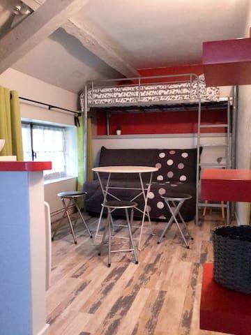 Studio cosy dans longère près de Loches et Beauval