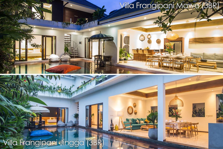 Villas Frangipani Jingga, and Frangipani Mawe