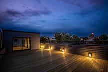 Huge rooftop deck