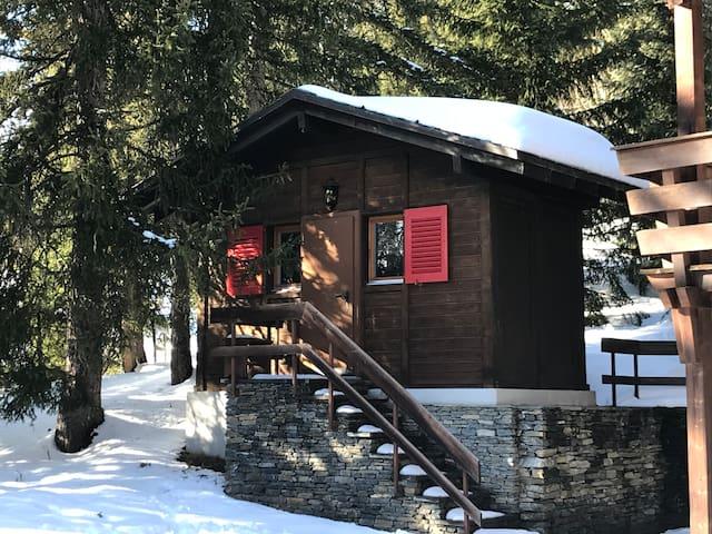 Chalet Lung-Ta, à 50m des pistes de Crans-Montana