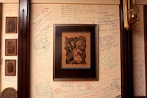 Feedbacks of our guests on the walls