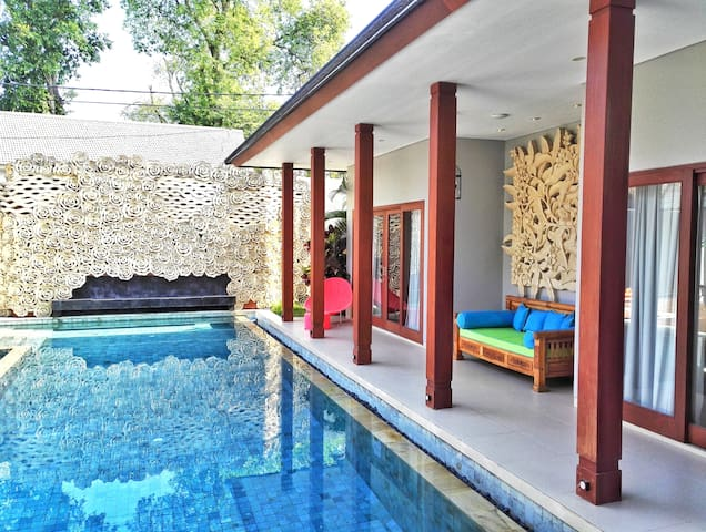 Private BR in luxury villa. 5mn Seminyak&Canggu