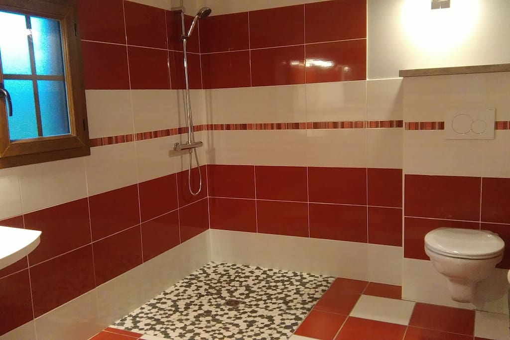 Salle de bain adaptée aux personnes à mobilité réduite