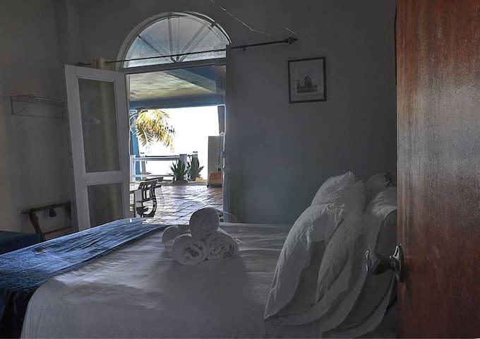Bedroom 3 view of patio/beach