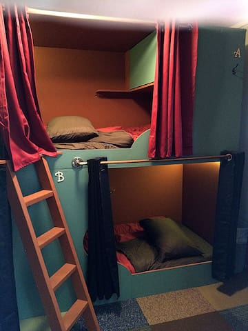 Bunk Bed in FEMALE dorm at the Historic Redlight