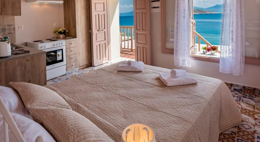 Halki sea view charming apartment