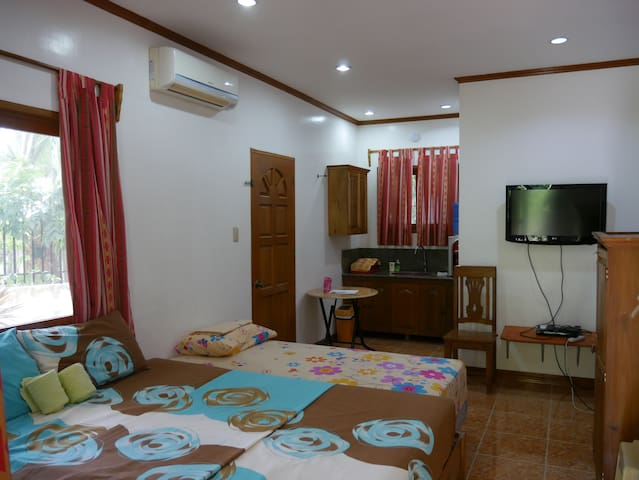 The main bedroom. An extra bed can be added next to the main double bed.