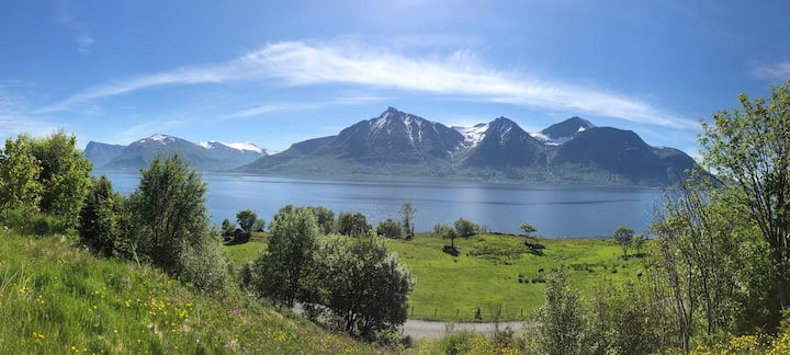 Norwegian fjords idyll - whole farm house