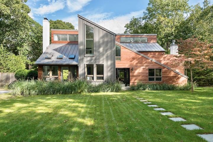 Striking East Hampton Modern Home with Heated Pool