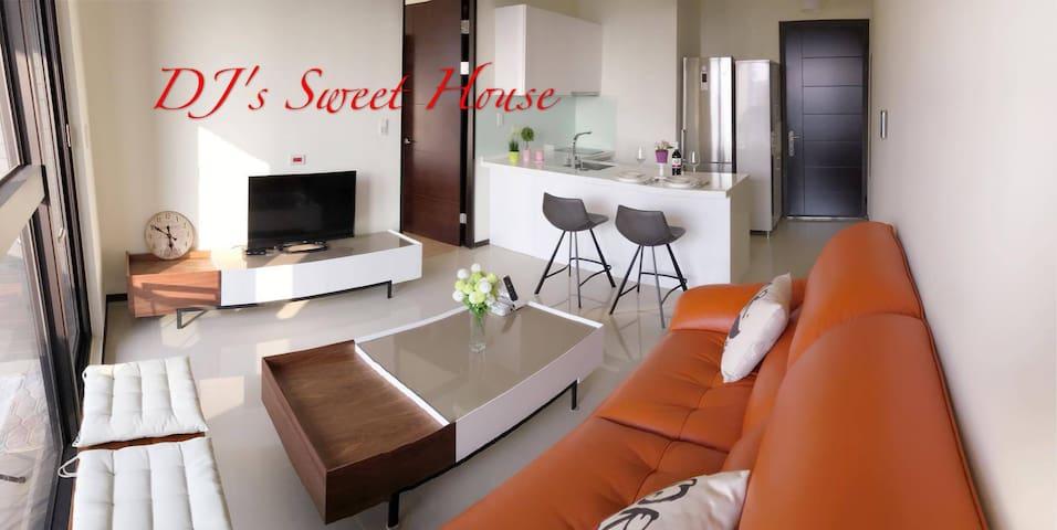 DJ's Sweet House 捷運站30秒/桃園高鐵站旁/機場旁/交通超方便 - Zhongli District - Apartamento