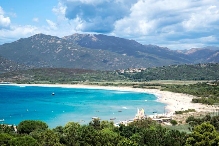 Villa Sampiero T3 vue mer, plage à 200 m, 6 pers - Propriano - Villa