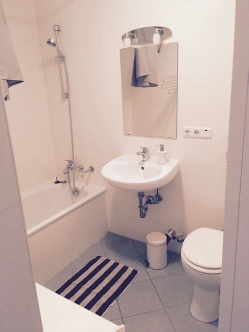 A glimpse of the bathroom