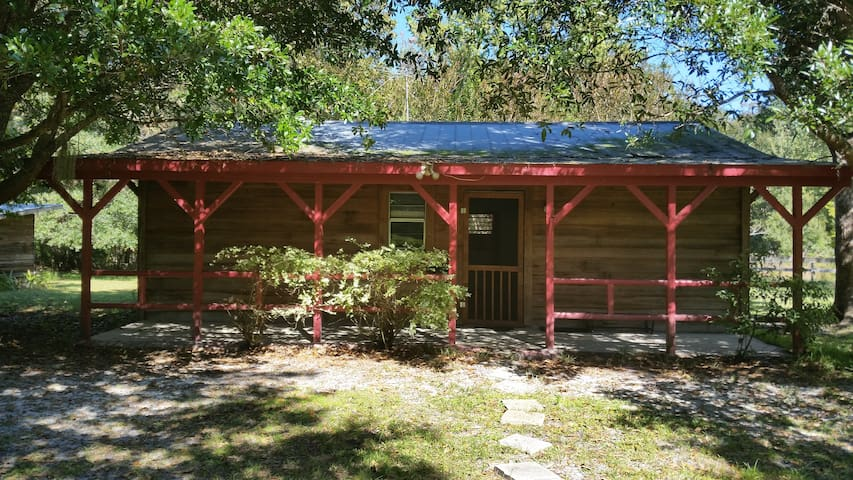 Cypress cabin on wildlife sanctuary - Gainesville - Houten huisje