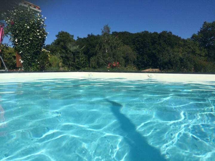 Villa piscine chauffée calme sud des Landes
