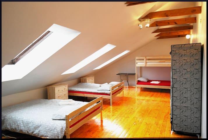 250m2 flat (5 Bedooms+free parking & Breakfast)