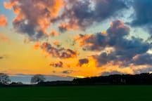 Evening view across the fields