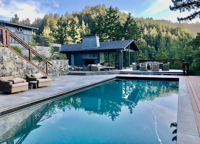 House on Private 3 Acres in Mill Valley with Pool and Full Court Basketball