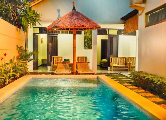 3Bedrooms Cozy Villa, balinese bamboo style PROMO!