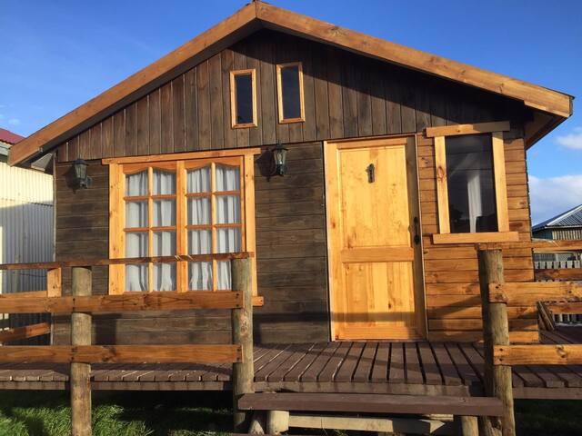 Acogedora cabaña en Tierra del Fuego