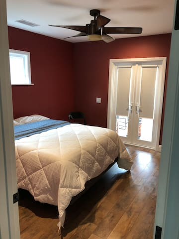 Bedroom with quality bed