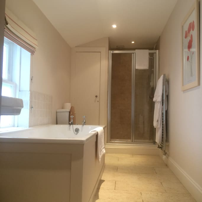 En suite with large bath and separate shower