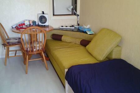 1 bedroom 3 sleeping spaces.
